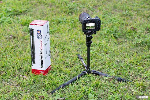 【攝影器材】Manfrotto Element 腳架,輕巧帶你走得更遠 - 最低拍攝高度