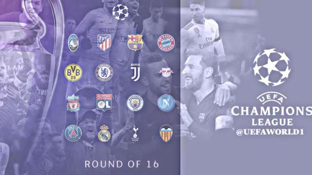 موعد قرعة دور ال16 لدوري أبطال أوروبا 2020/2019 /كورة لايف 10