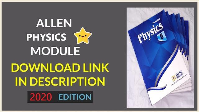 Allen NEET Physics Module pdf Download 2020 Edition