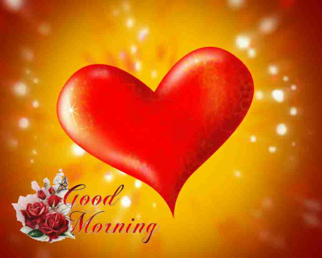 Beautiful good morning photo image with heart