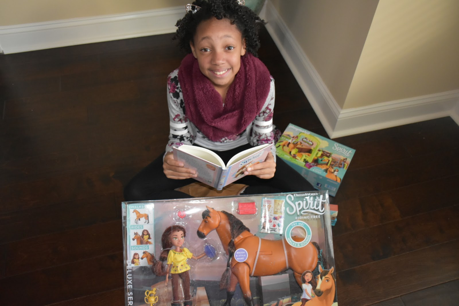 Netflix DreamWorks Spirit Riding Free Holiday Gift Box Unboxing: See What We Got!  via  www.productreviewmom.com