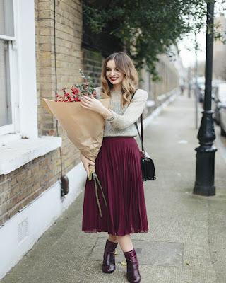fall outfits midi skirt