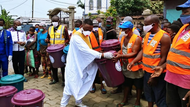 COVID-19: Ndifor Afanwi Franklin takes Sensitisation message to Markets