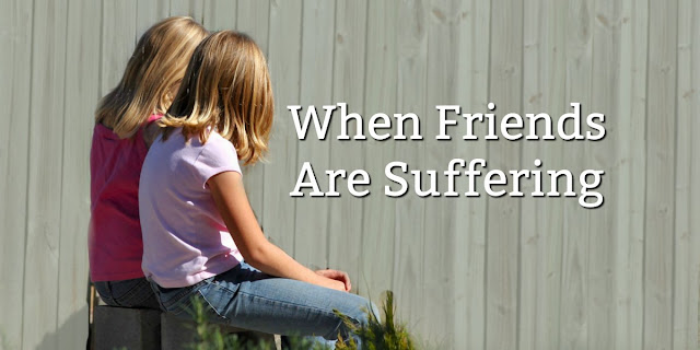 It can be hard to know what to do when someone is suffering. This 1-minute devotion offers 3 biblical ways to comfort a friend. #Bible
