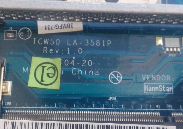 LA-3581P Rev 1.0 ICW50 Acer Aspire 5220 5520 7220 7520 Bios