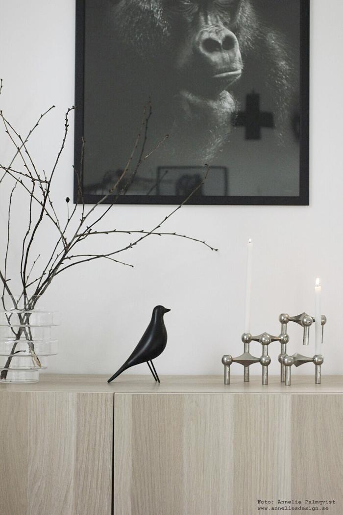 annelies design, webbutik, nätbutik, fågel, fåglar, inredning, nagel, ljusstake, ljusstakar, vako, vas, smaelta,
