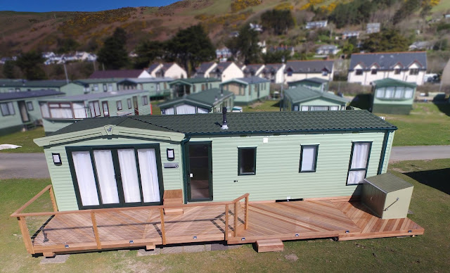 hardwood and steel wire decking Aberdovey