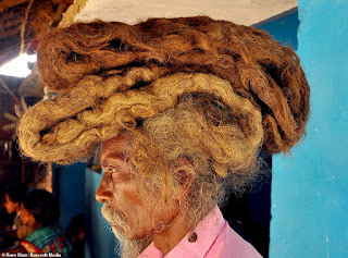 Indian man hasn't washed his six-foot dreadlocks in 40 years