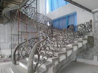Railing, Tangga, Besi, Tempa, Klasik, Mewah