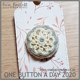 Day 196 : Cloudy Day - One Button a Day 2020 by Gina Barrett
