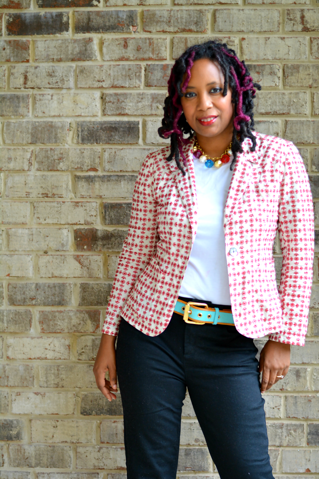 casual blazer worn with jeans