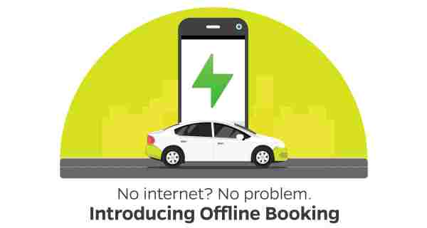 Ola app Offline Booking Feature via SMS