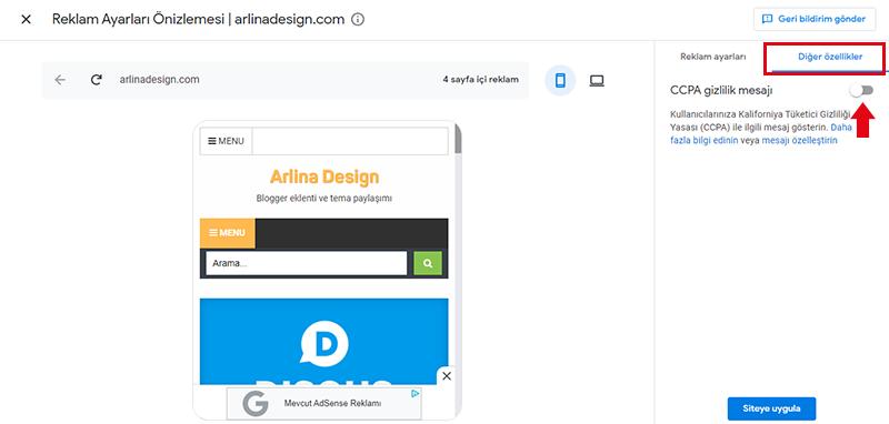 Google Adsense CCPA Gizliliği Nasıl Etkinleştirilir?