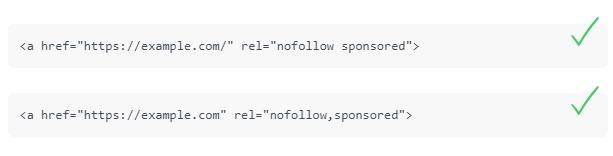 Nofollow bağlantı özelliğini diğer değerlerle birleştirmek