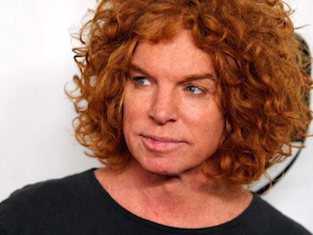 Carrot Top; an American stand-up comedian and actor