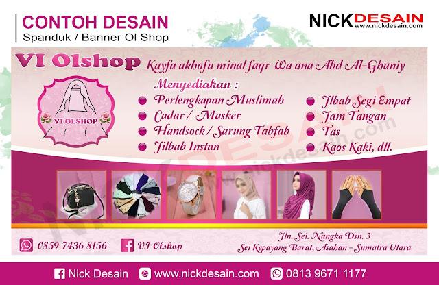 Contoh Desain banner Spanduk Olshop Pink