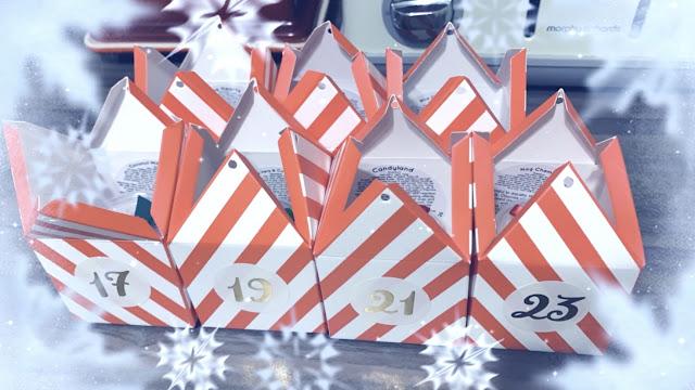Wax melt advent calendar boxes