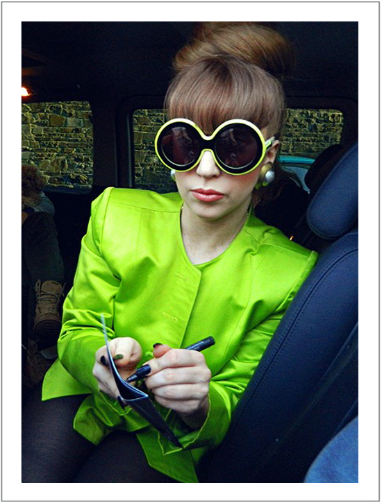 Lady Gaga in Karen Walker Iris sunglasses