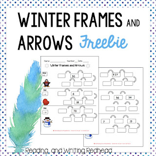 Cover of Winter Frames and arrows freebie