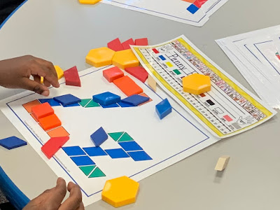 Alphabet Pattern Block Literacy Station