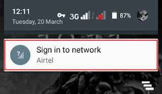 Sign in to network