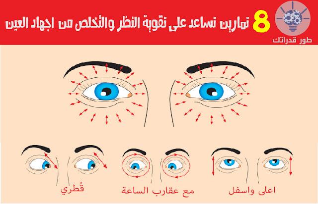 8 تمارين تساعد على تقوية النظر والتخلص من اجهاد العين