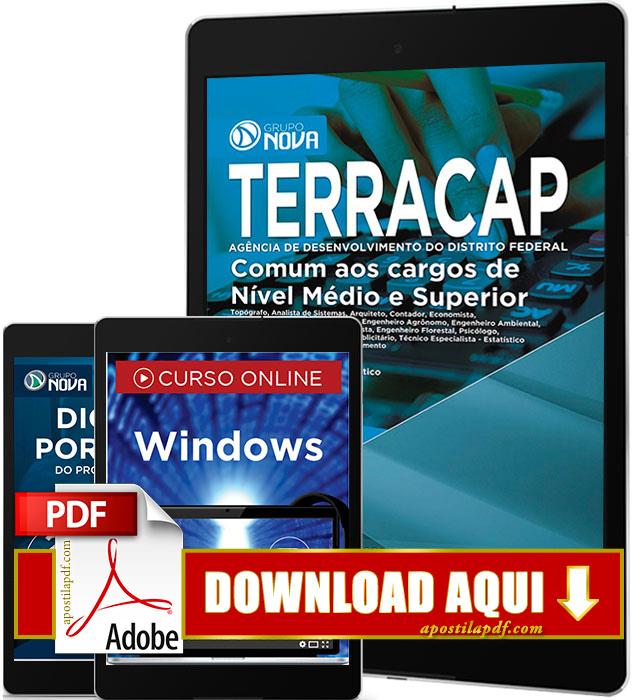 Apostila TERRACAP 2017 PDF Download Cargos de Nível Médio e Superior