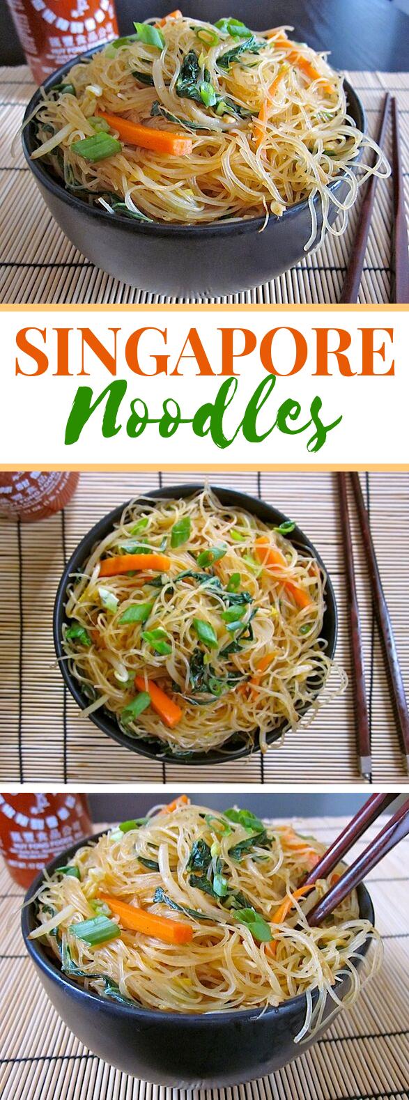 SINGAPORE NOODLES #vegetarian #vegetables