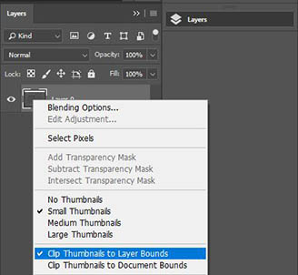 Edit layer thumbnails in Photoshop CC