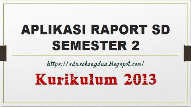 APLIKASI RAPORT SD SEMESTER 2 KURIKULUM 2013