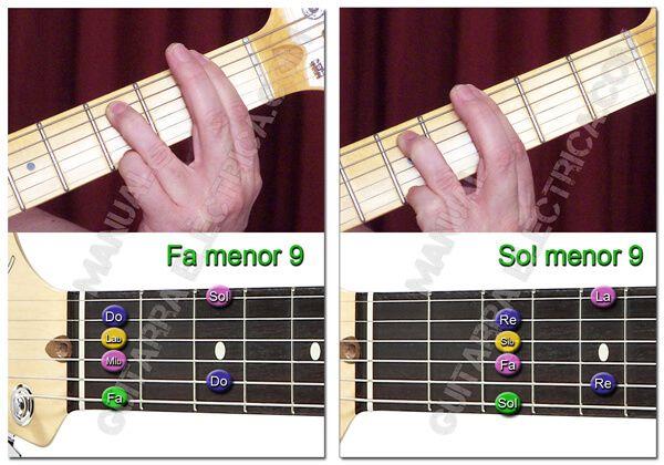 Acordes de menor Novena para Guitarra
