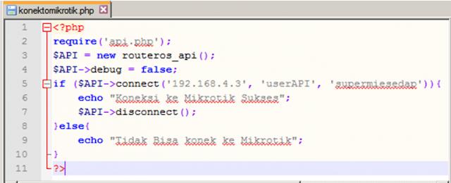 Source Code Program Aplikasi API Mikrotik to PHP Web Mysql Versi 2.1