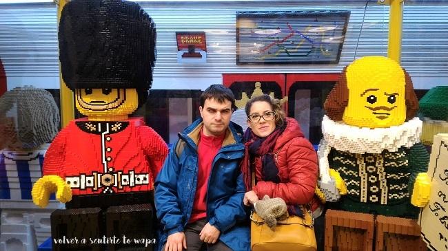 Tienda de Lego en Londres - Shakespeare con piezas de Lego