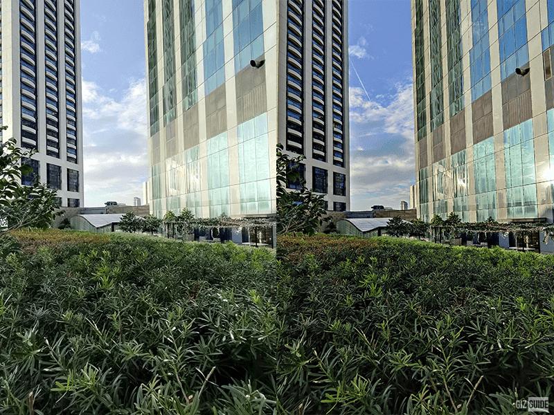 Daylight ultra-wide OPPO Reno5 5G (left) vs Xiaomi Mi 10T Pro (right)