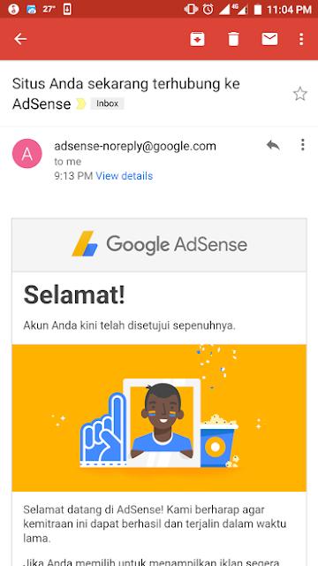Bagaimana cara agar blog kita diterima di Google Adsense