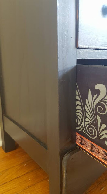 custom dresser door detail