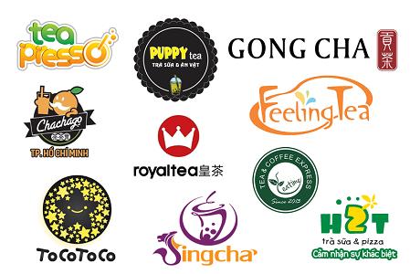 Một số mẫu logo đẹp của các thương hiệu trà sữa tại Việt Nam
