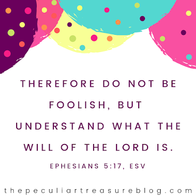 Bible verse, Ephesians 5:17