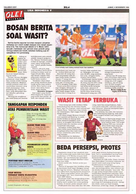 LIGA INDONESIA V BERITA SOAL WASIT
