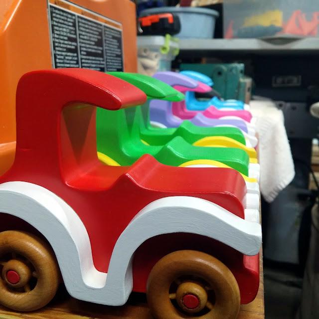 Handmade Wooden Toy Cars Bad Bob's Custom Motors Sedans & Coupes In Various Colors