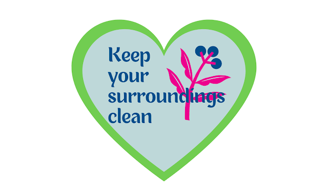 keep your surroundings clean