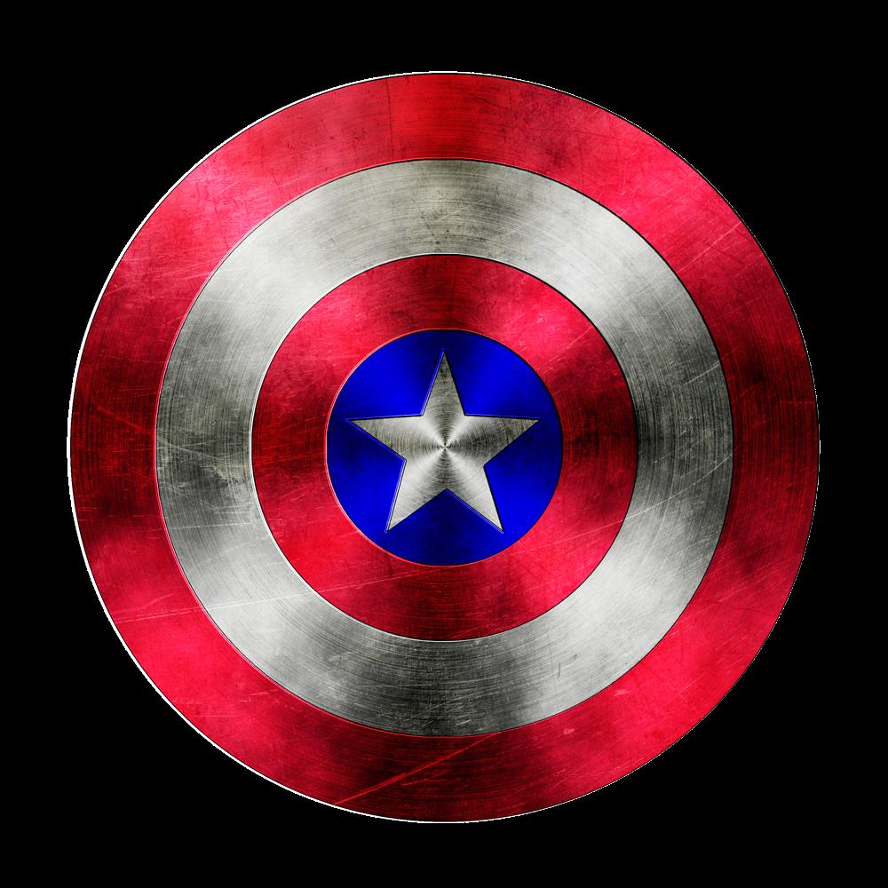 Escudo Capitão America Para Colorir