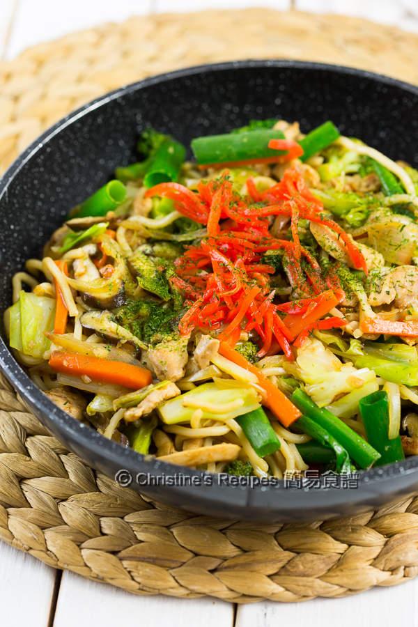 日式炒麵【美味輕便餐】Yakisoba   簡易食譜 - 基絲汀: 中西各式家常菜譜