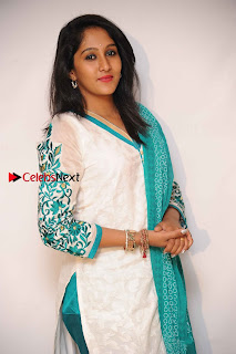 Kannada Actress Nikhila Stills in White Embroidery Salwar Kameez at Srinivasa Kalyana Movie Press Meet  0005.jpg