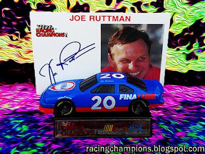 Joe Ruttman #20 Fina Racing Champions 1/64 NASCAR diecast blog Dick Moroso 1993 Cup BGN