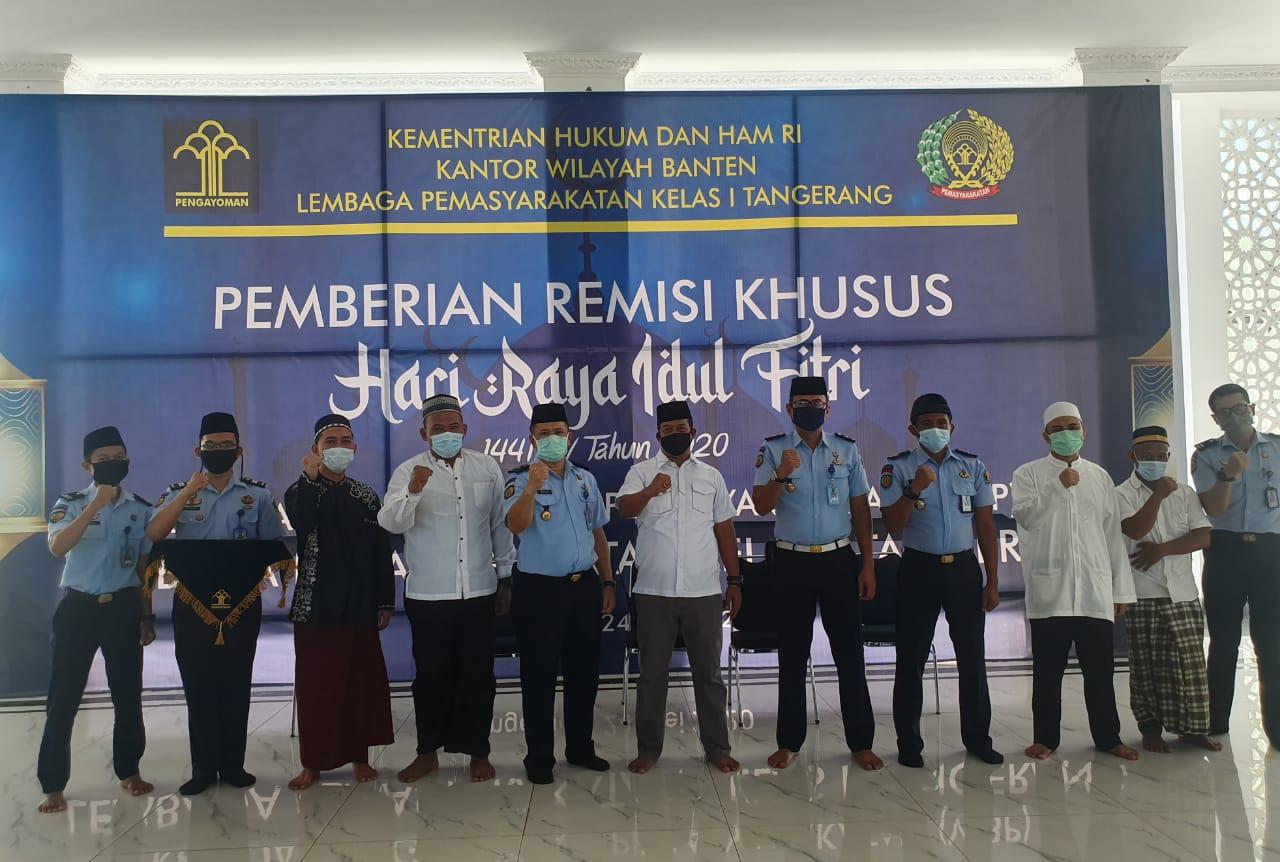 Idul Fitri Membawa Berkah Sebanyak 1310 WBP Lapas Kelas 1 Tangerang Terima Remisi