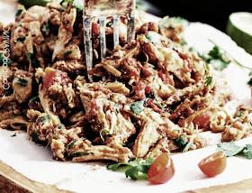 pollo desmenuzado a la mexicana