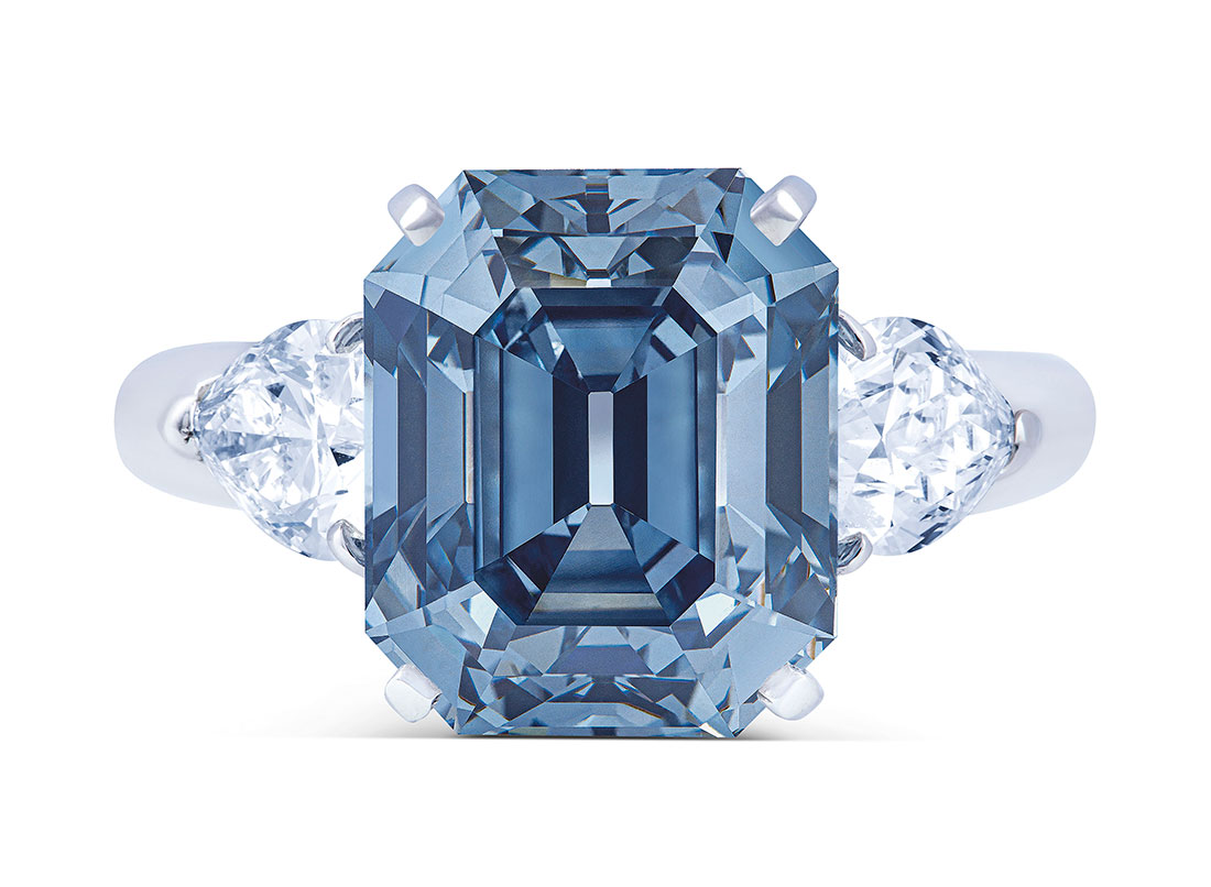 Among the Rarities Featured at the Christie's Magnificent Jewels Auction, a 7.03 Carat Fancy Blue Diamond by Moussaieff Takes the Spotlight this November