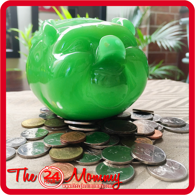 green piggy bank