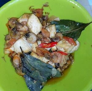 resep tumis udang tahu sutra